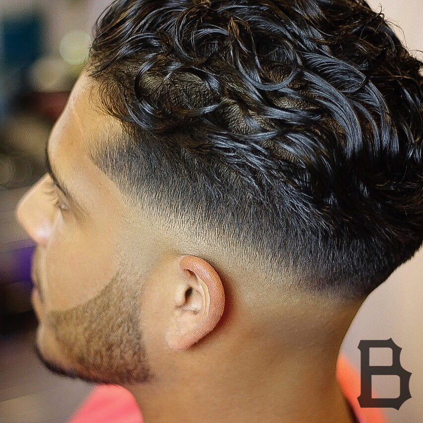 theburghbarber low bald fade haircut with contrast