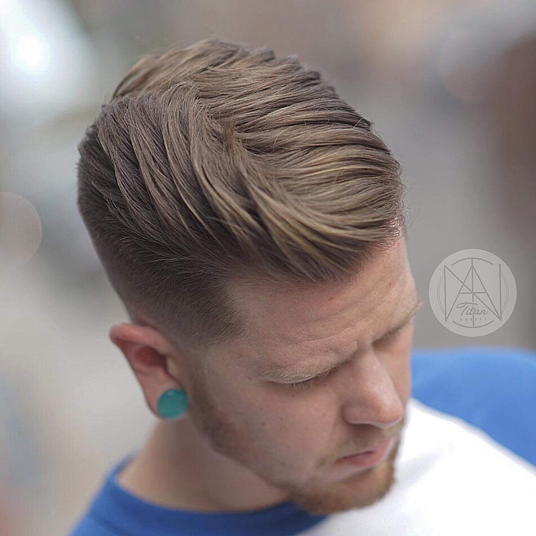 titan_barber natural flow mens haircut blow dry