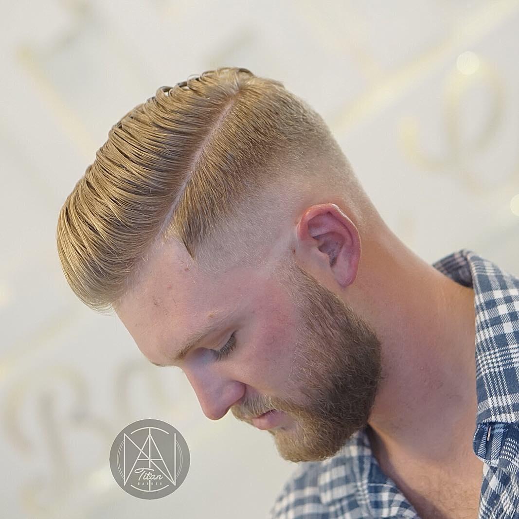 titan_barber side part haircut for men
