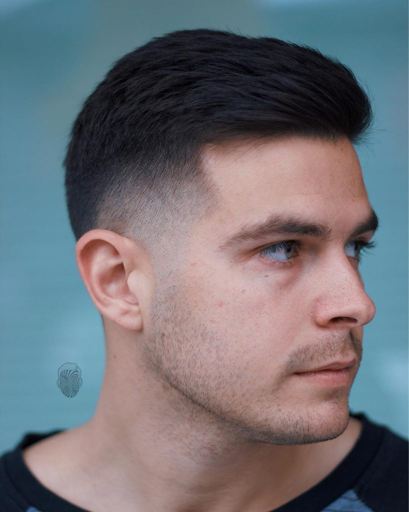 Sweep Back Mens Hairstyle