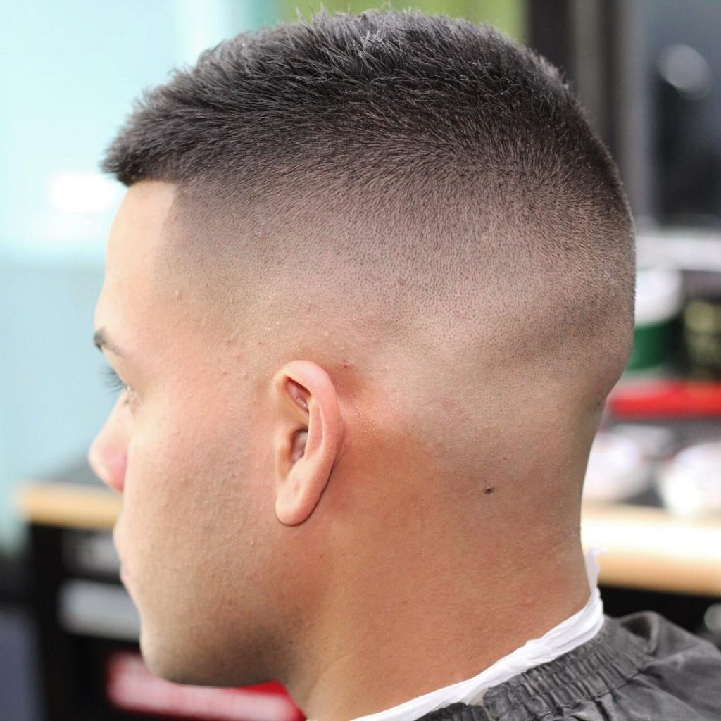 Short haircut with high fade