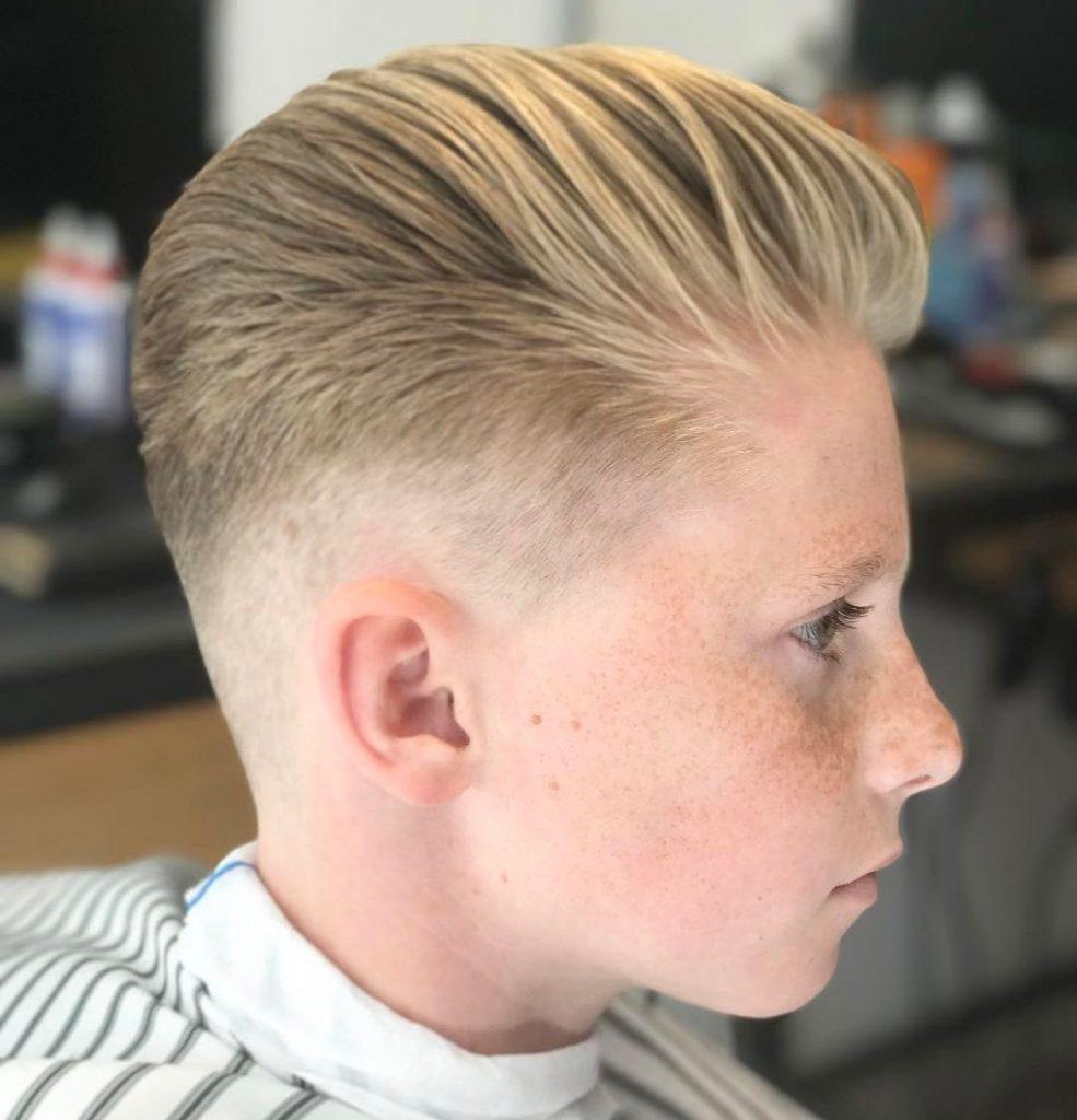 pompadour fade for boys