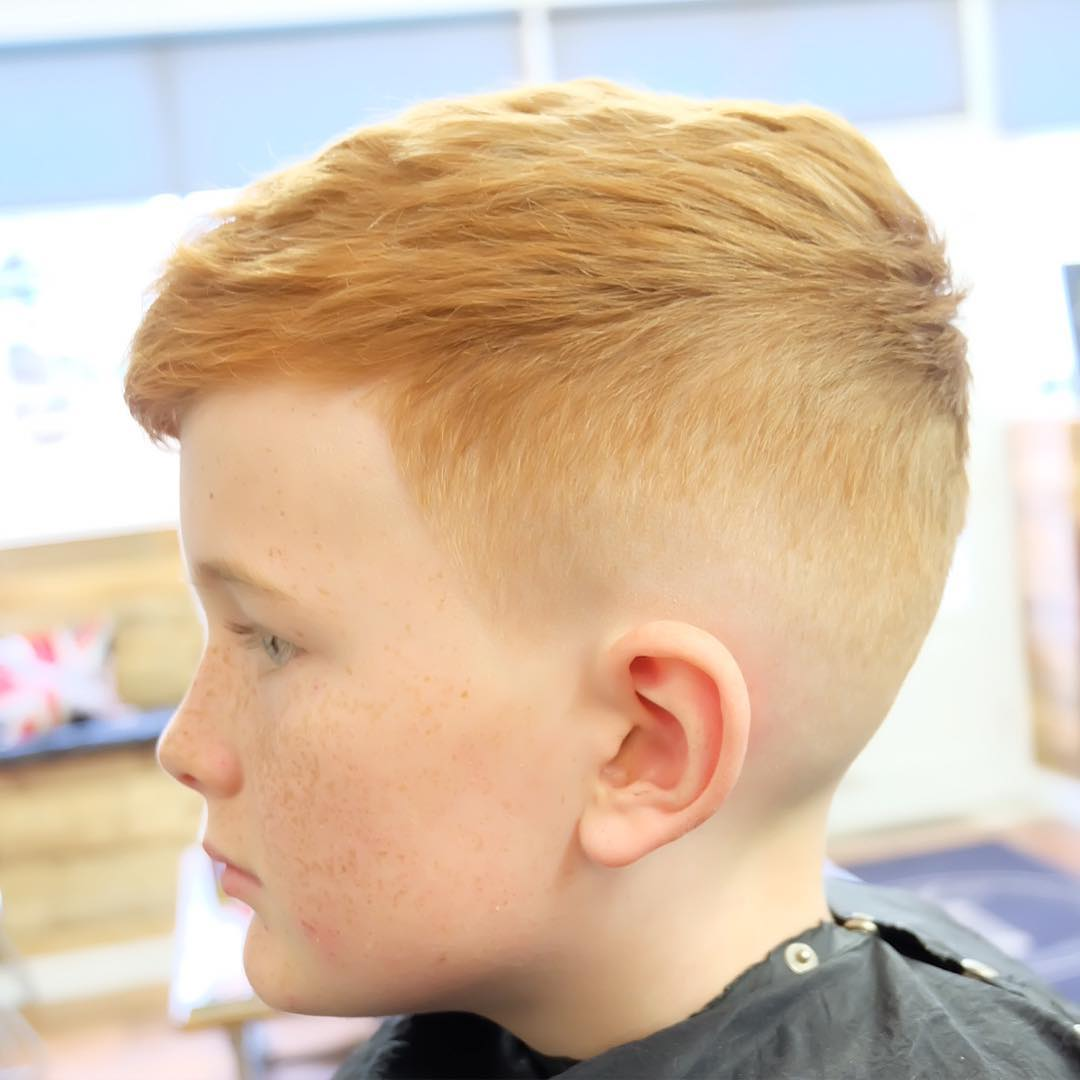Easy haircut for boys with a high fade