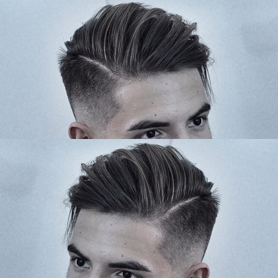 Side part haircut