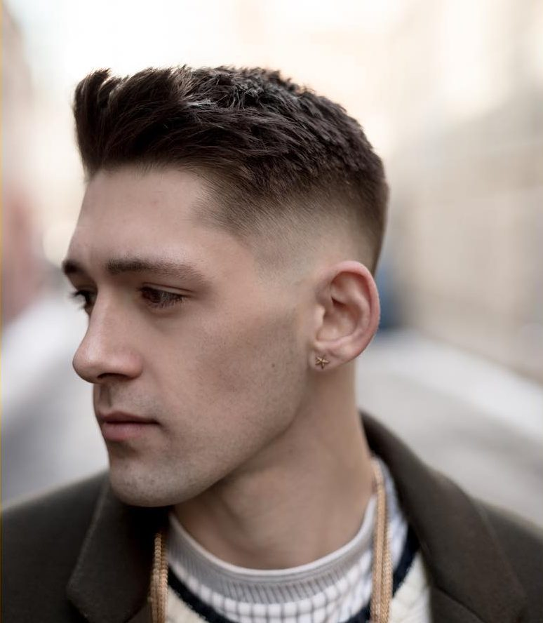 Elegant Shaved Sides Haircuts
