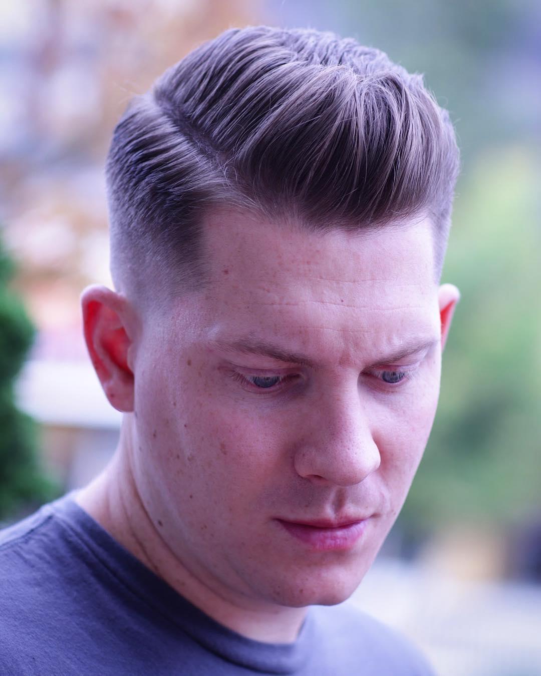 Ivy league haircut side part