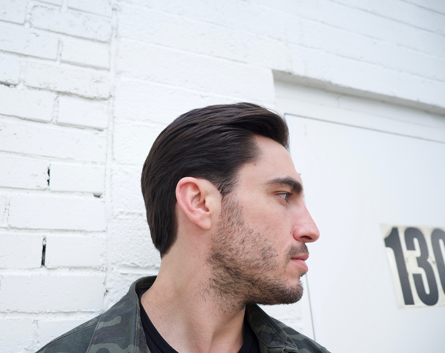 groovyhair slicked back mens haircut