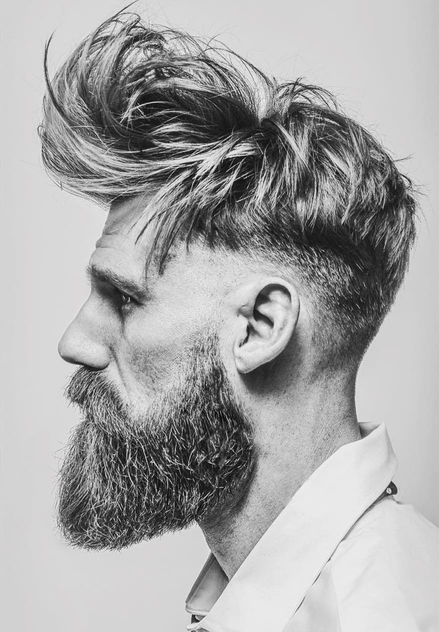 mattyconrad long messy textured mens haircut