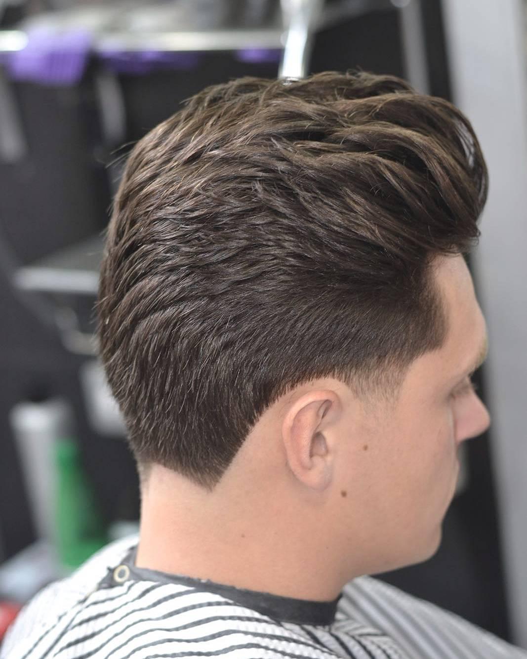 Zig Zag Line Neckline Hair Design