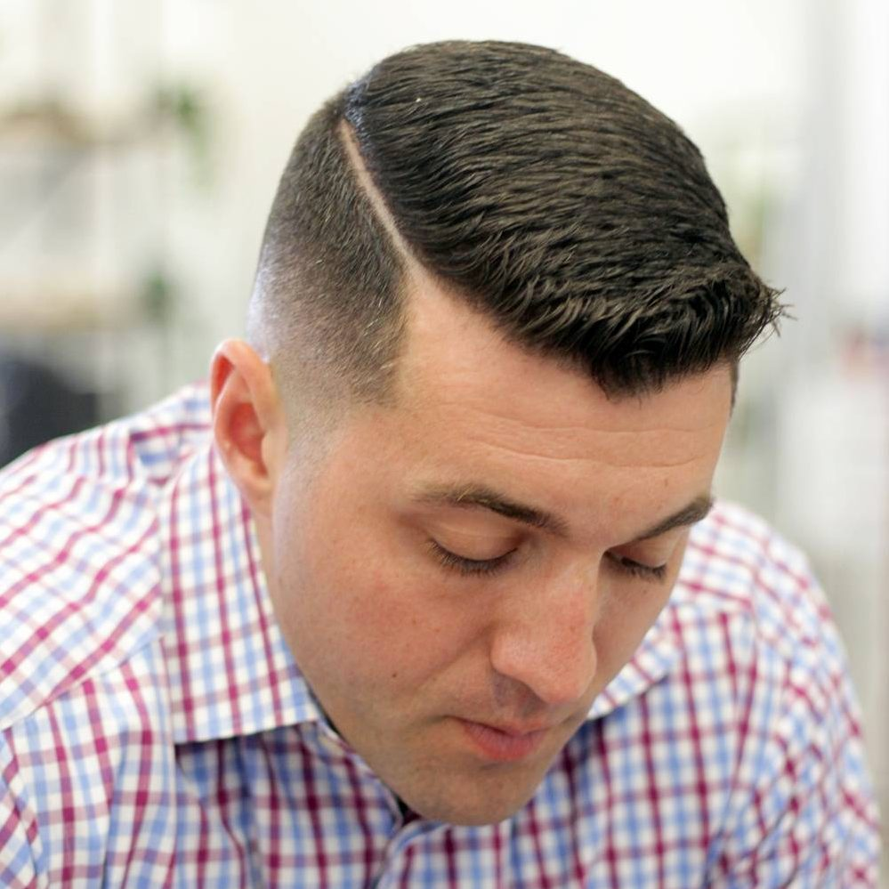 12. Short Comb Over Fade