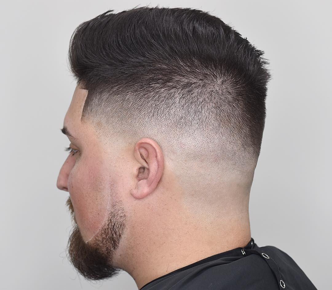 Short comb over mens haircut for thick hair