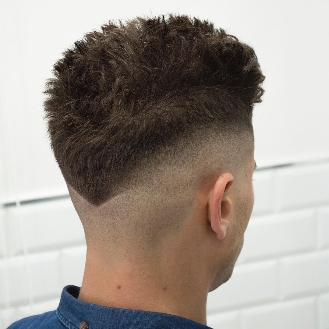 V-Neck Hair Design Bald Fade