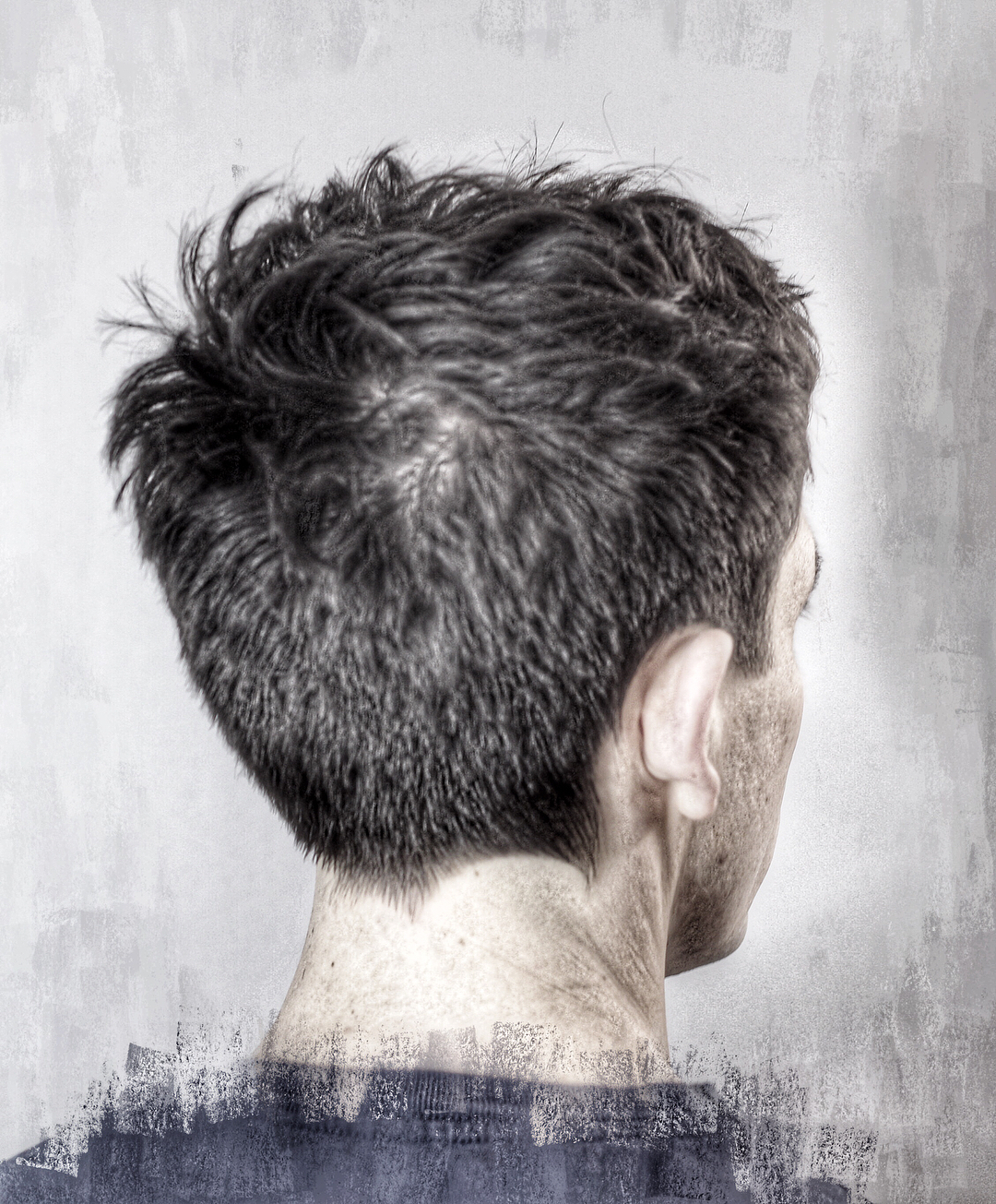 Pointed Neckline Hair Design For Mens Haircuts