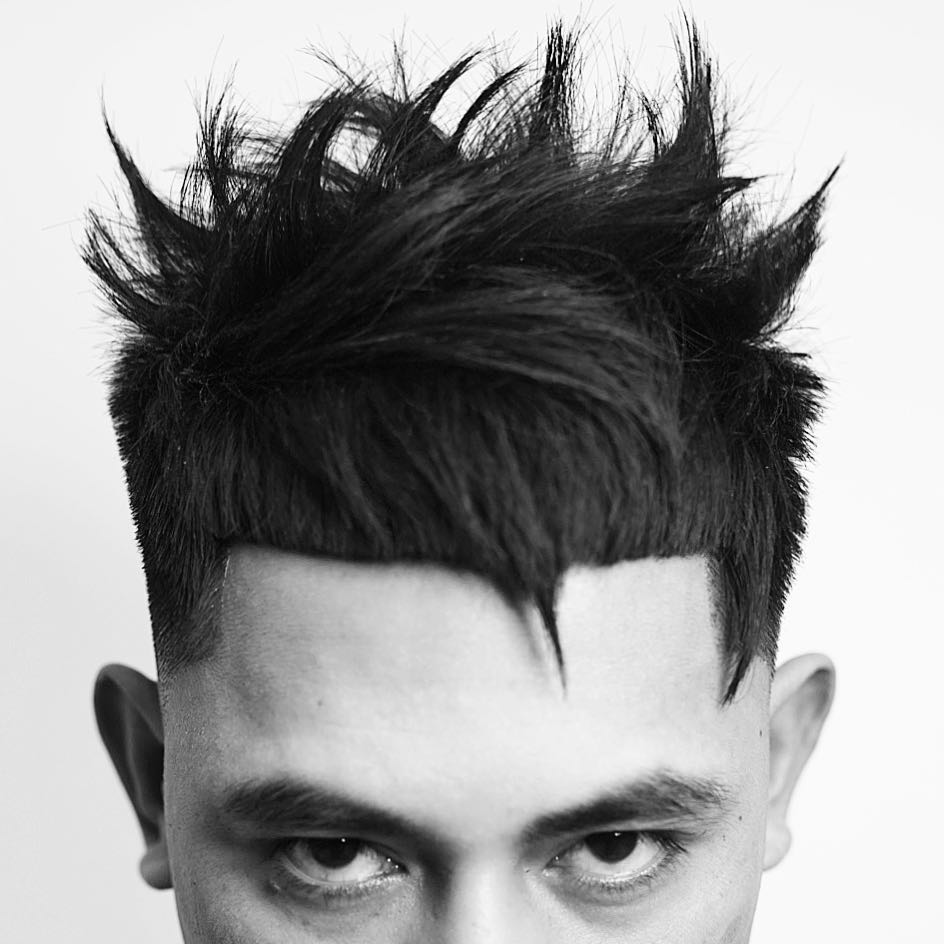 Spiky hairstyles for men with thick hair