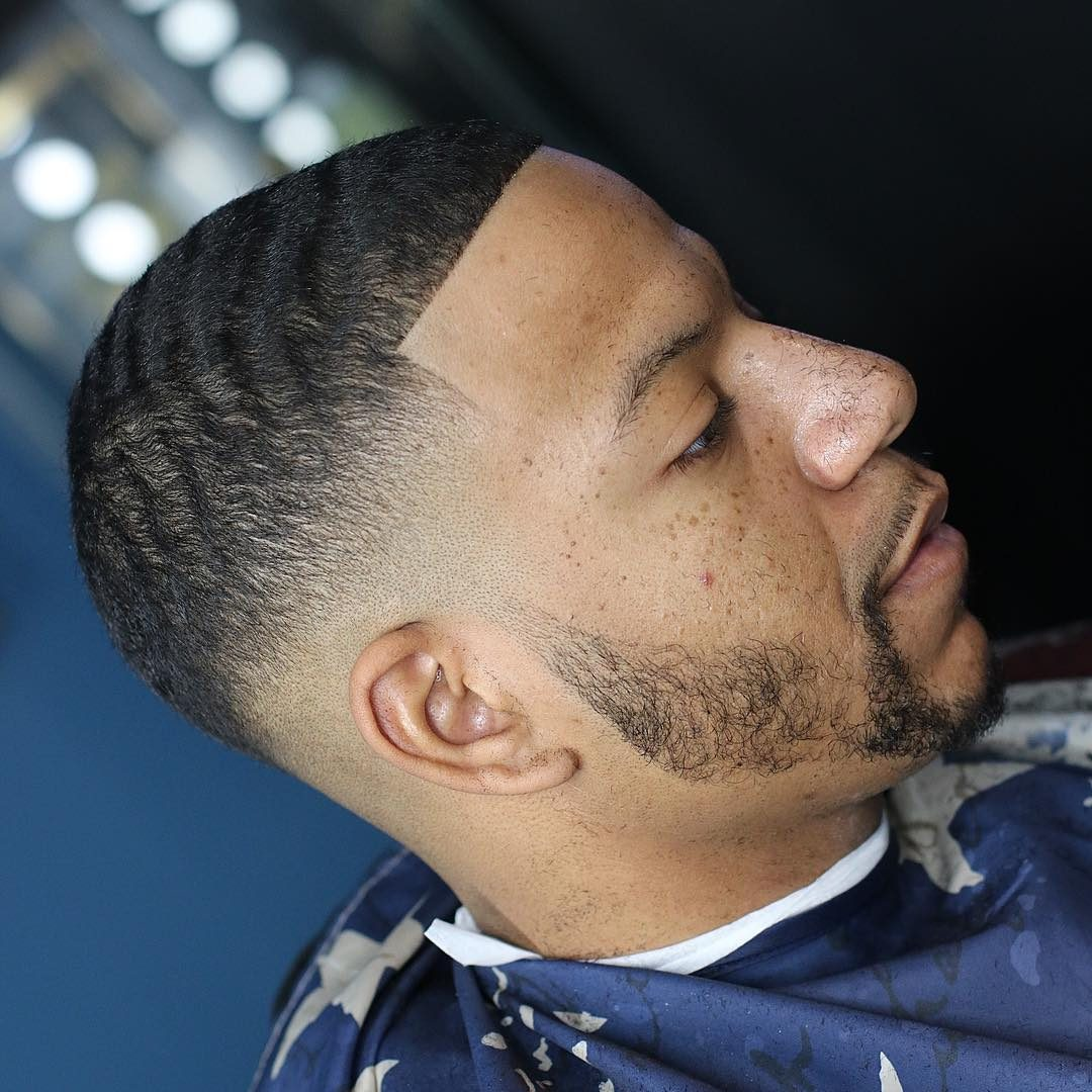 Drop Fade Waves Haircut With Part 14