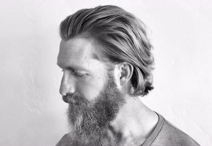 Medium long hair haircut for men