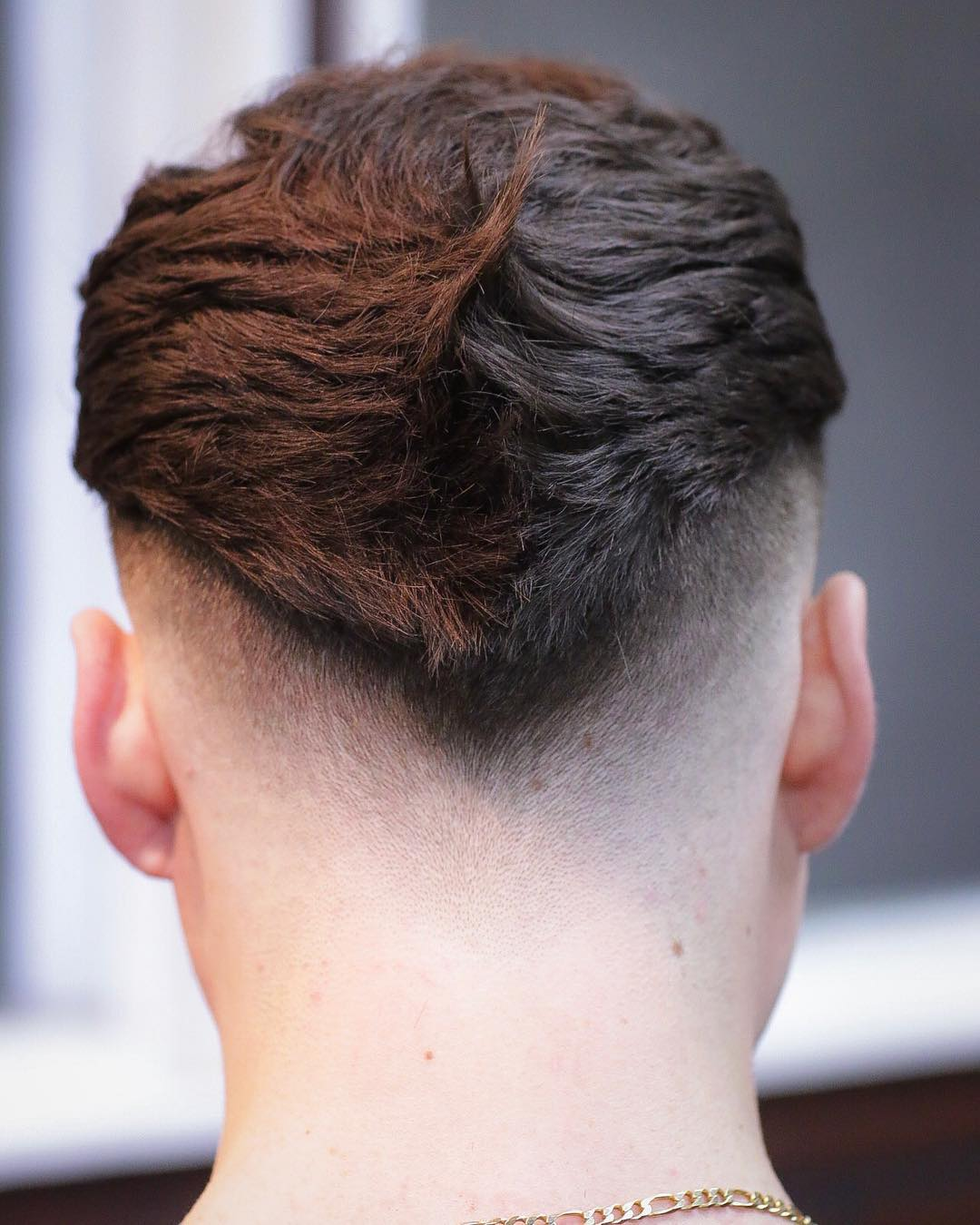 V-shaped fade haircut