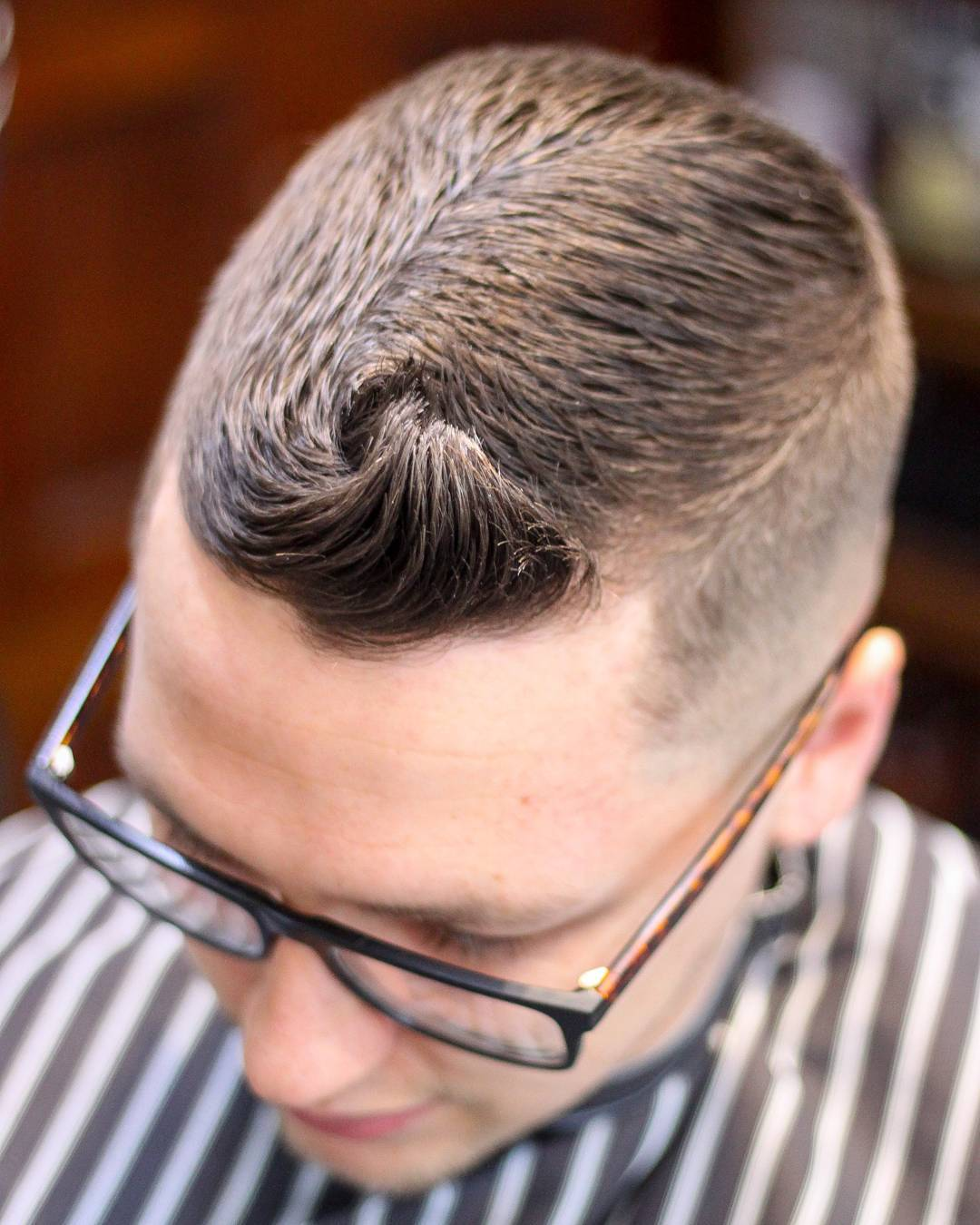 Quiff hairstyle for short hair men