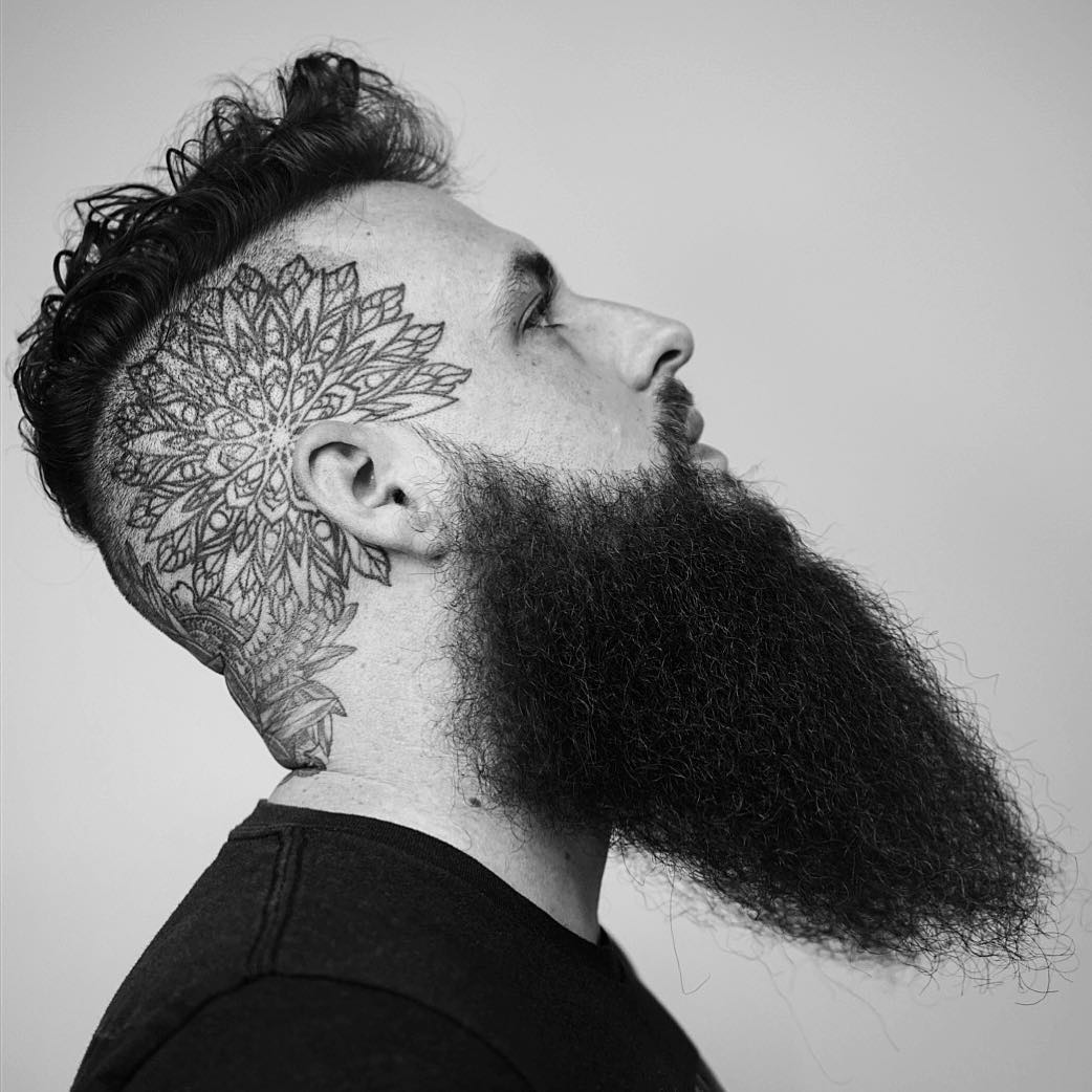 Long shaped beard