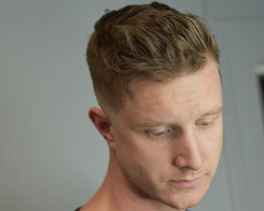 Medium mens haircut high fade