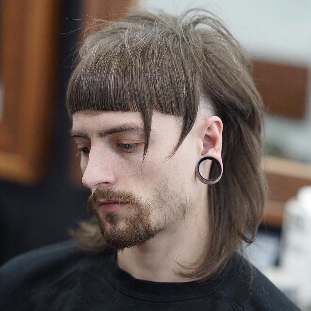 Long Hair + Shaved Sides For Men