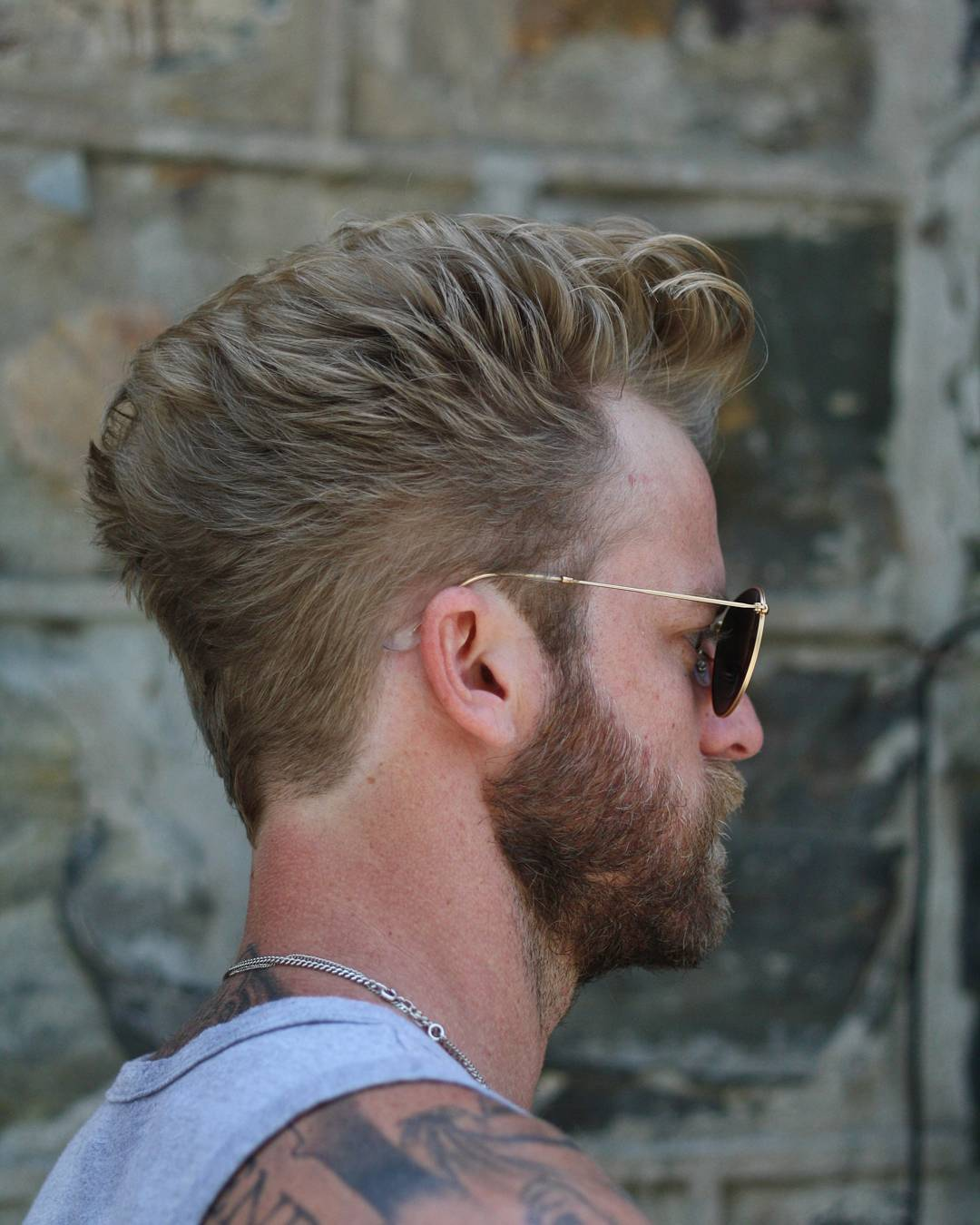 Modern men's hairstyle with flow