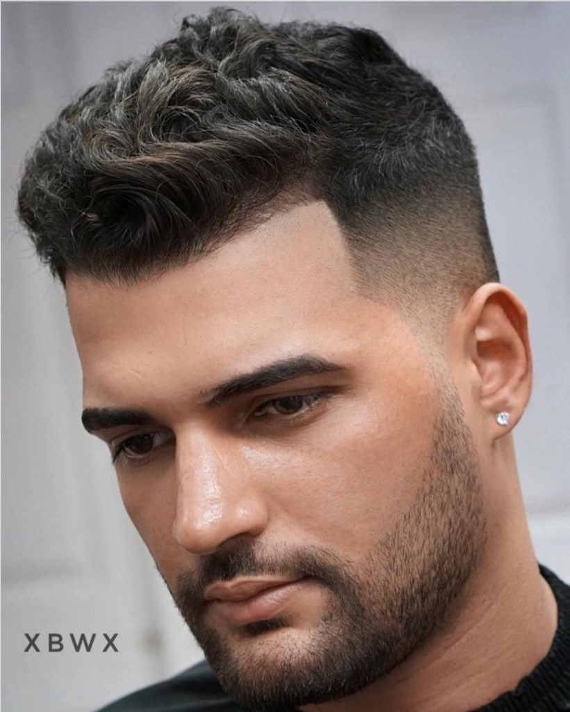 Short classic men's haircut high fade