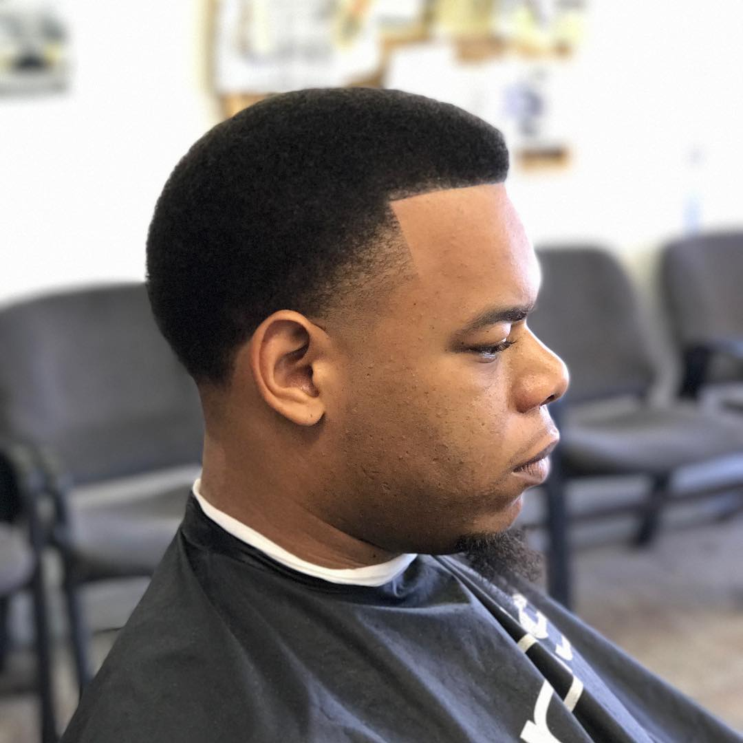 Short Afro Temple Fade Haircut For Black Guys