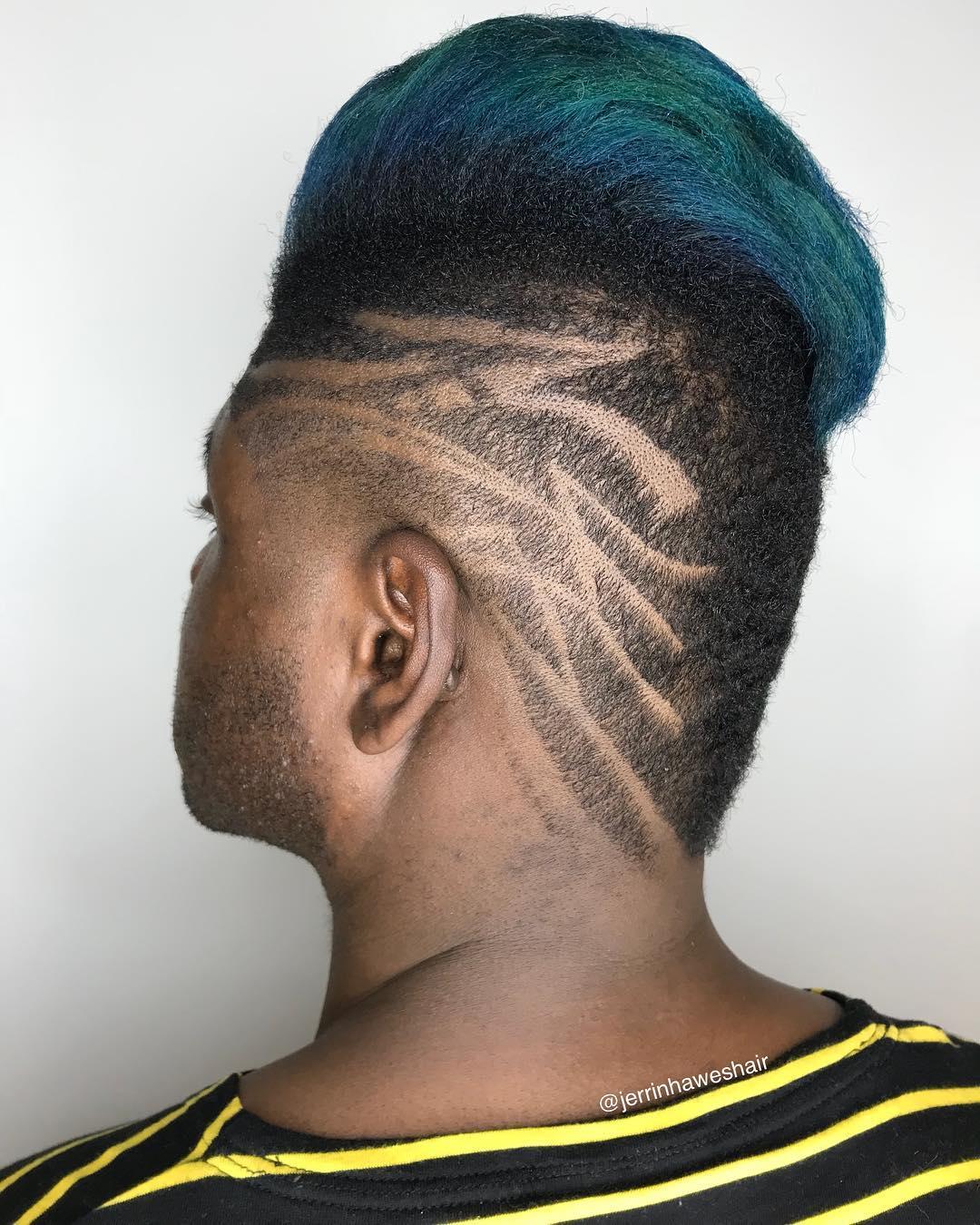 Cool Hair Design For Black Mens Hair