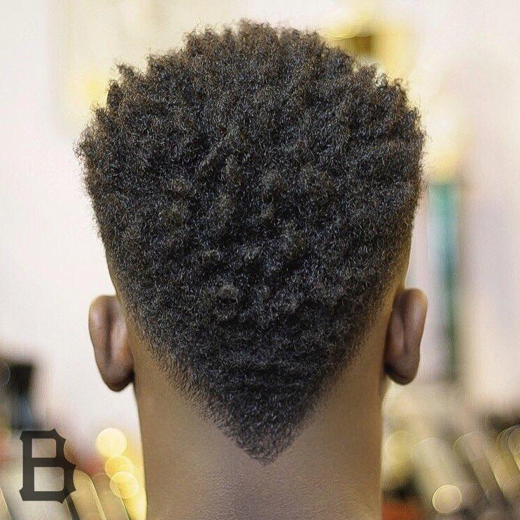V-Shaped Neckline Haircut For Black Men