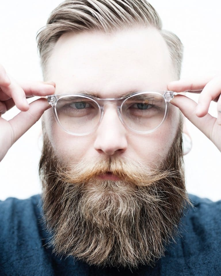 The hipster wedge beard style