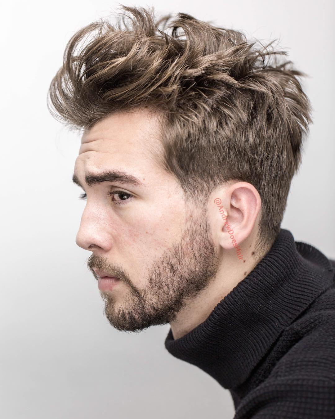 andrewdoeshair choppy messy mens haircut medium length