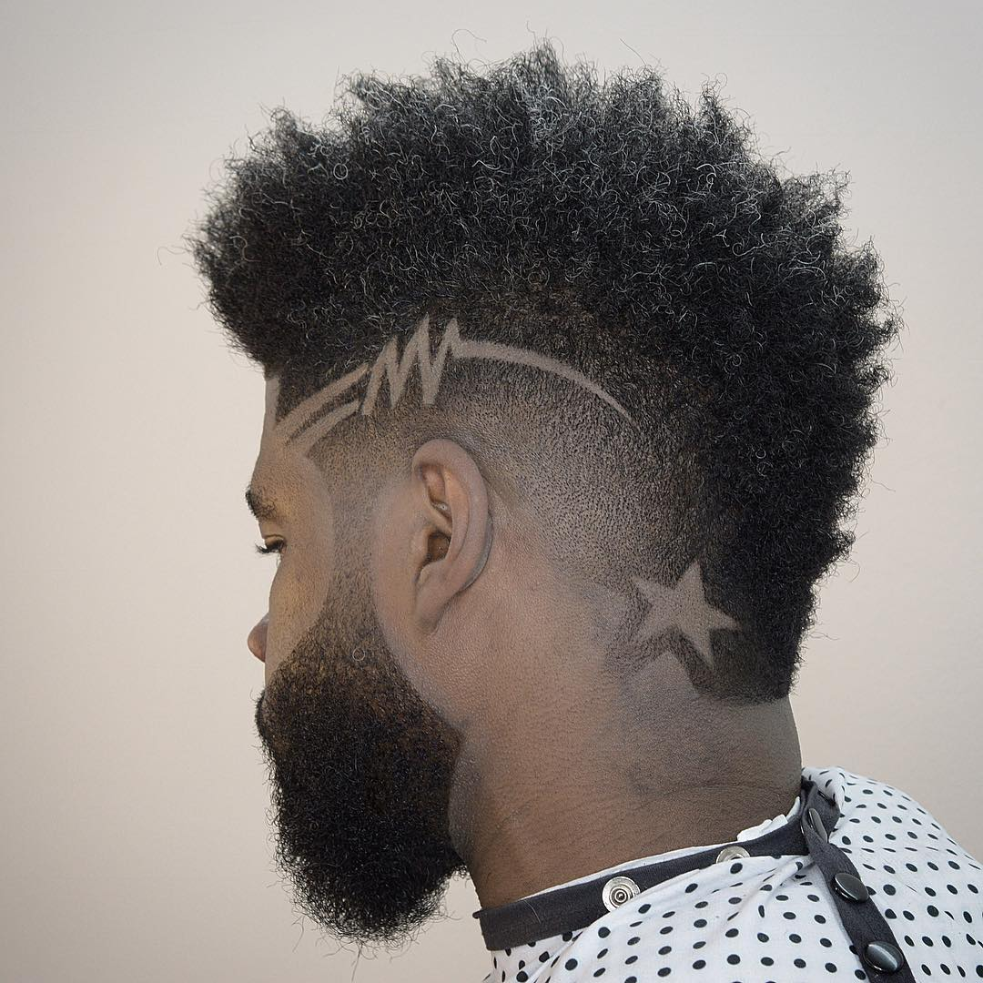 andyauthentic mohawk fade and hair design