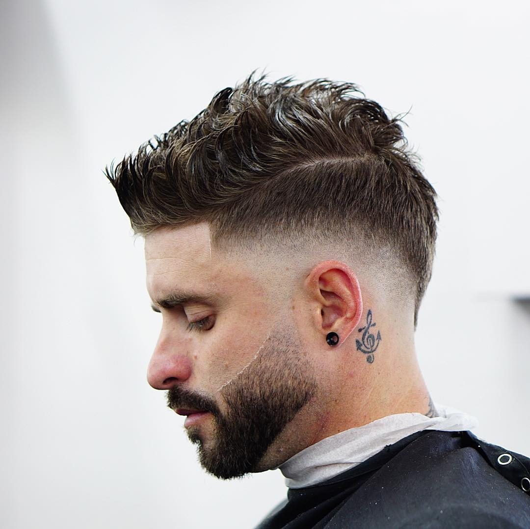 cool short haircut for guys with thick hair drop fade