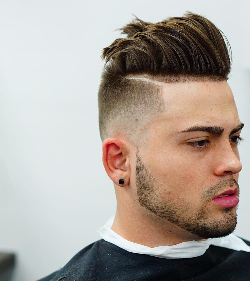 Cool undercut haircut for men long fringe