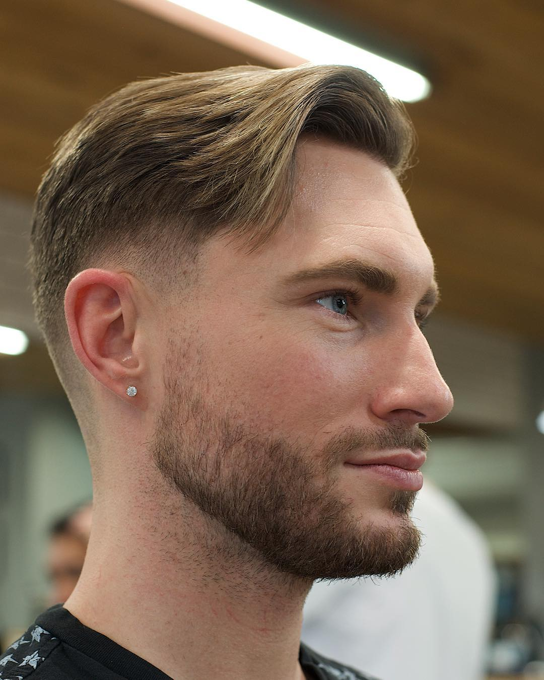 electricbarbering medium length mens haircut