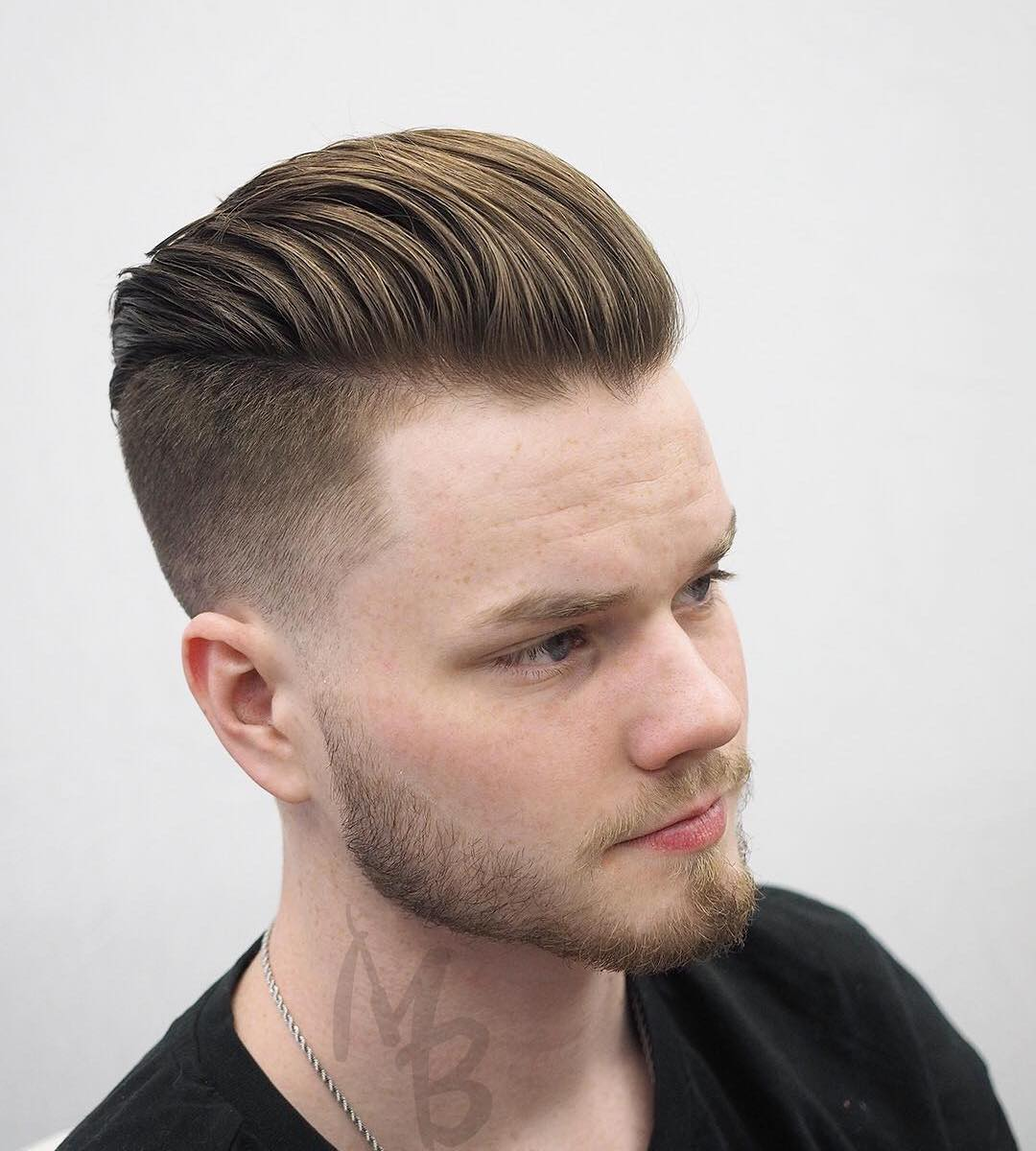 Hairbymikebernstein Undercut Hairstyle For Men Brushed Back