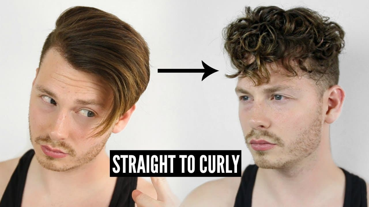 How To Get Curly Hair Men S Tutorial