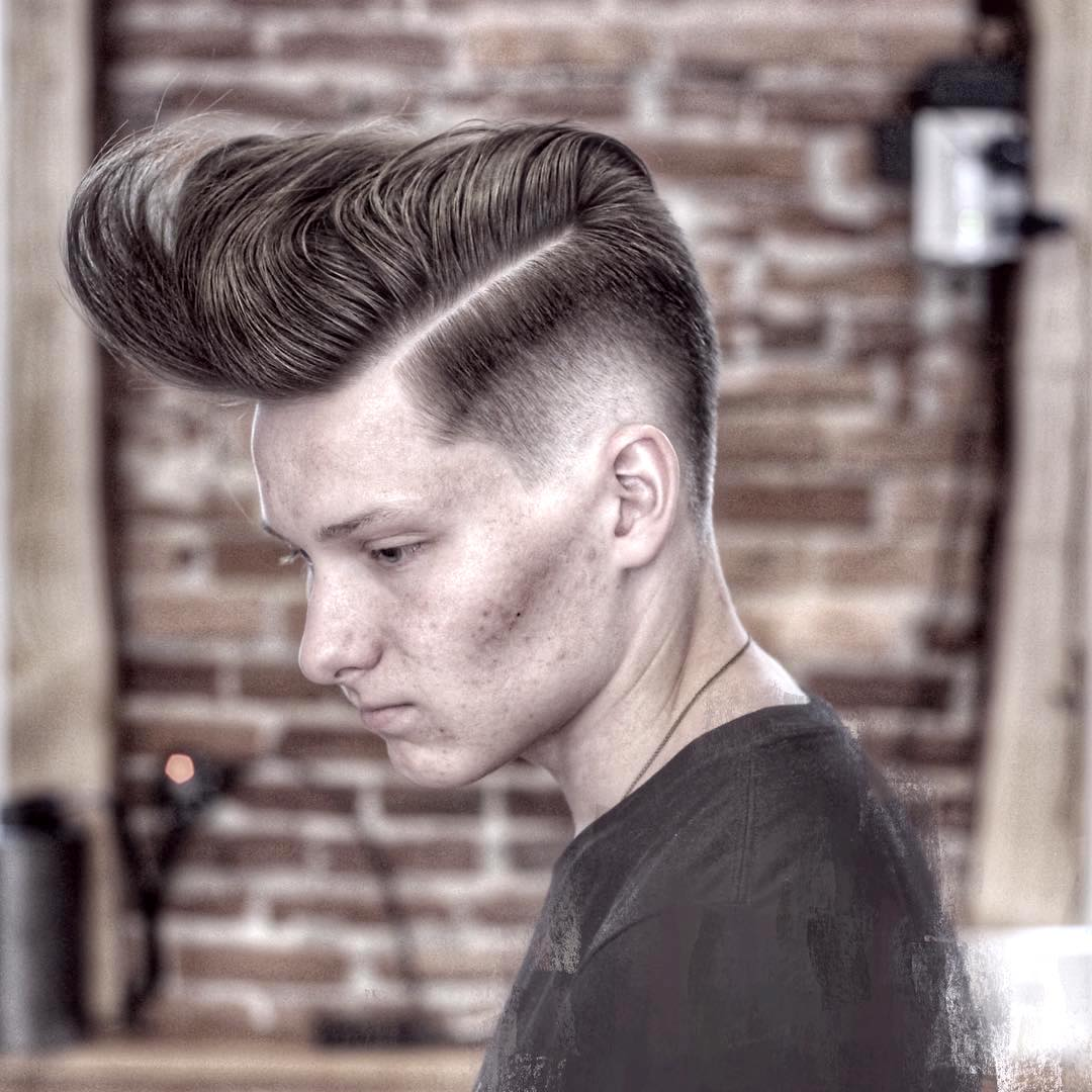 jenegafpas cool long fringe pompadour haircut for men