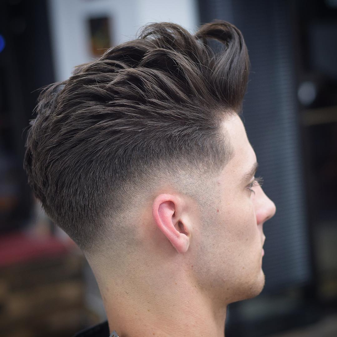 mikes_custom_kuts low fade messy pompadour long fringe