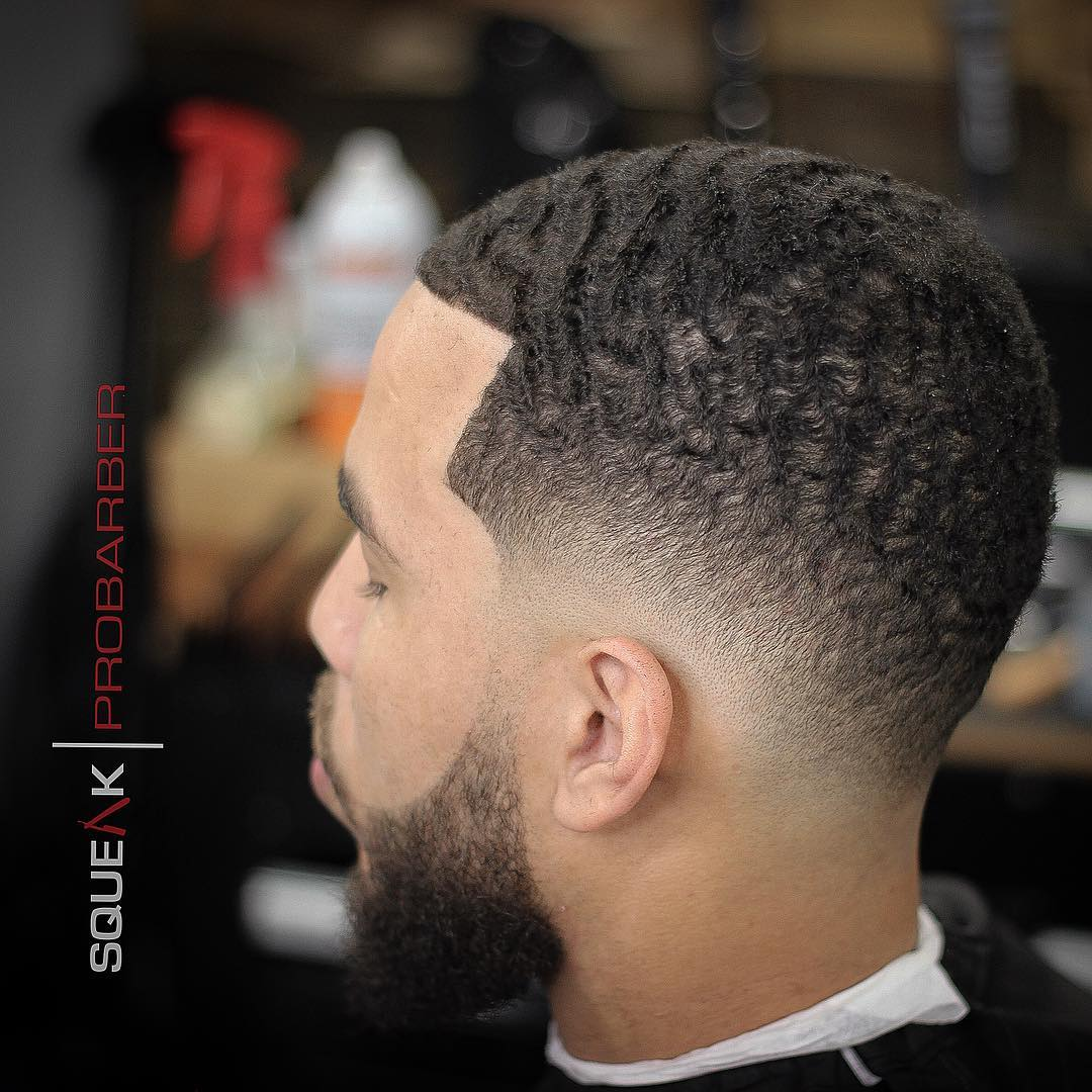 squeakprobarber clean drop fade and waves mens haircut