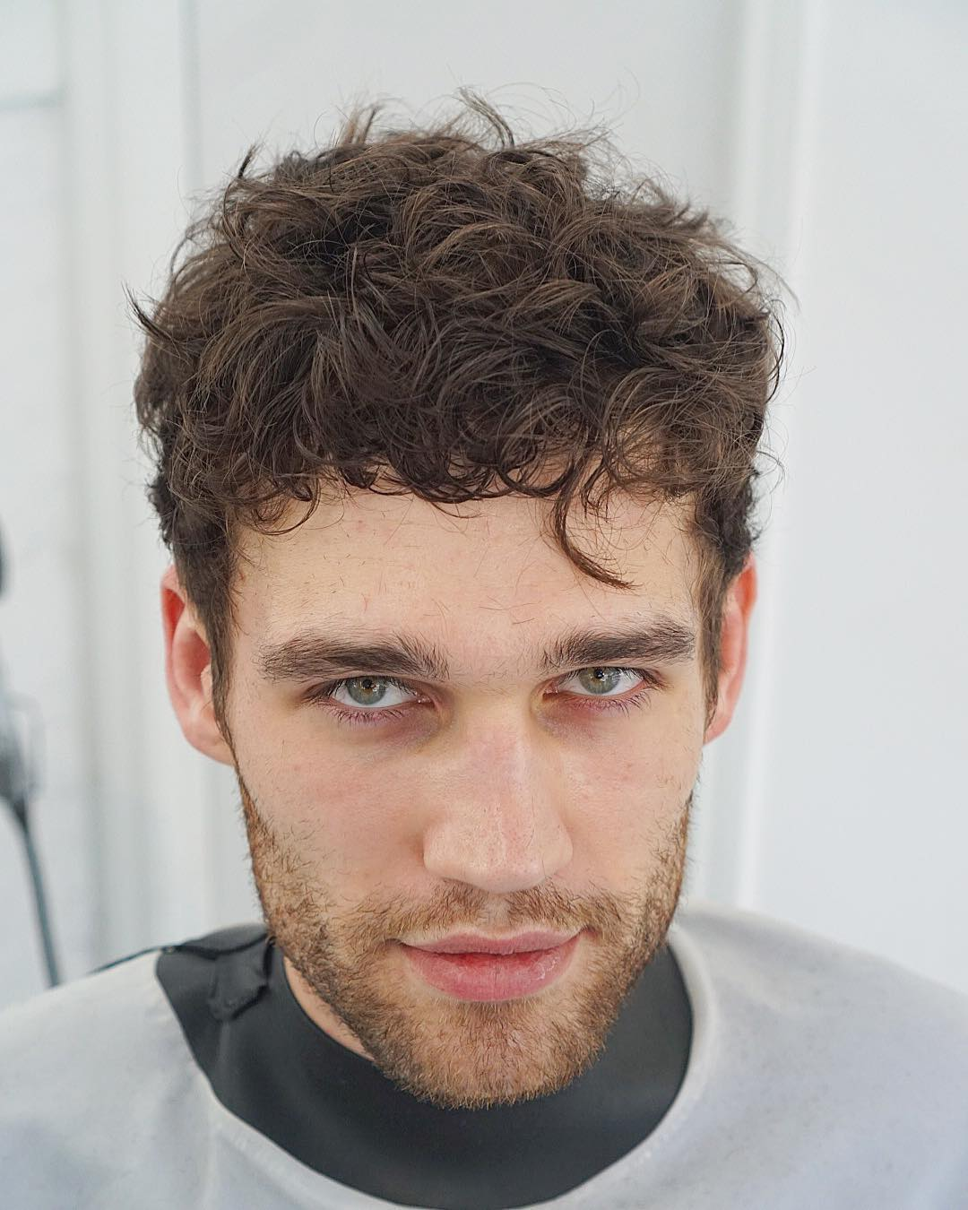 thefacelessbarber medium length mens curly hair haircut