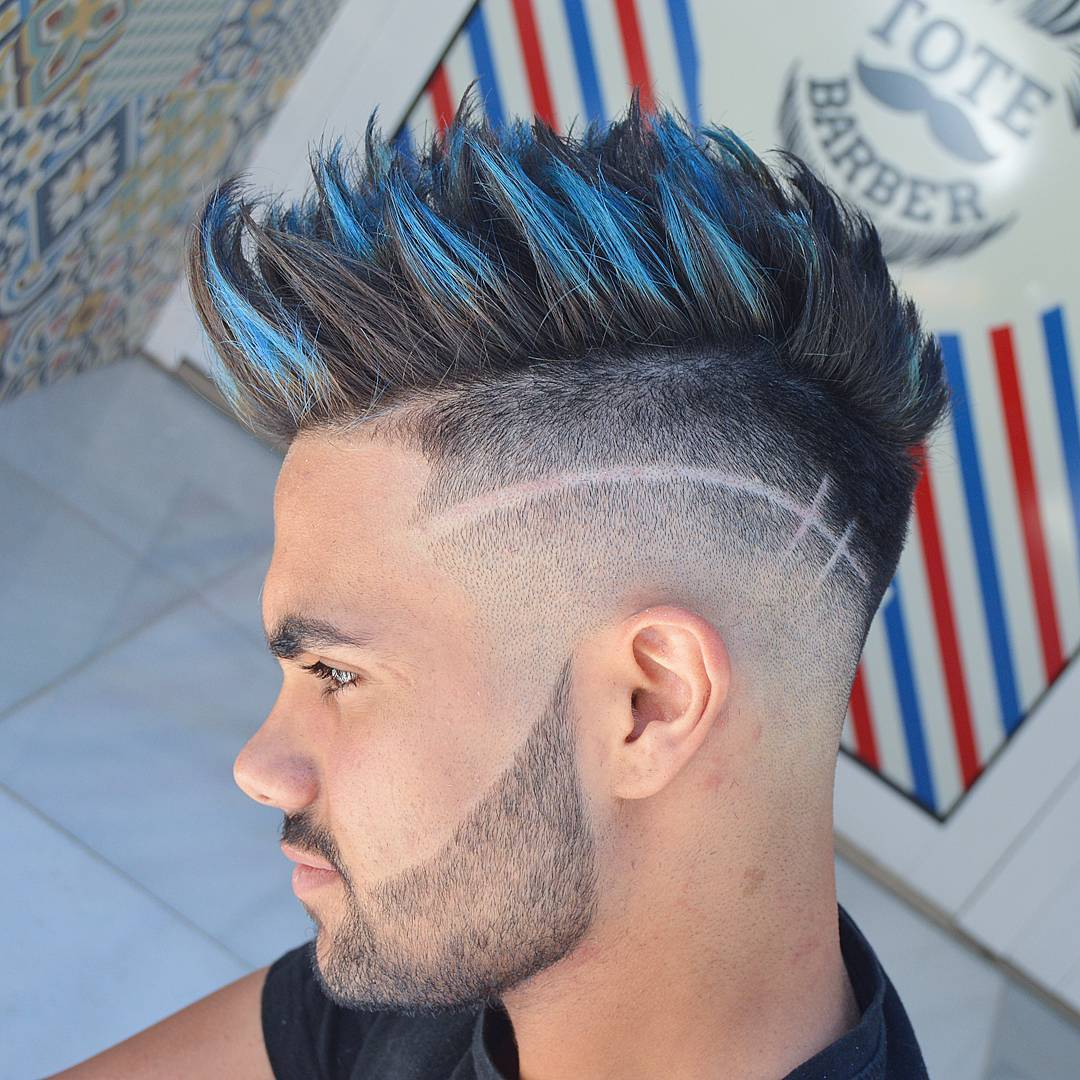 Undercut mohawk fade hairstyles for men with hair design