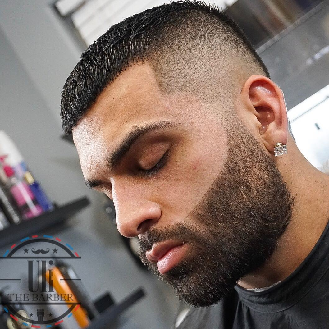 ultra short crop haircut high fade