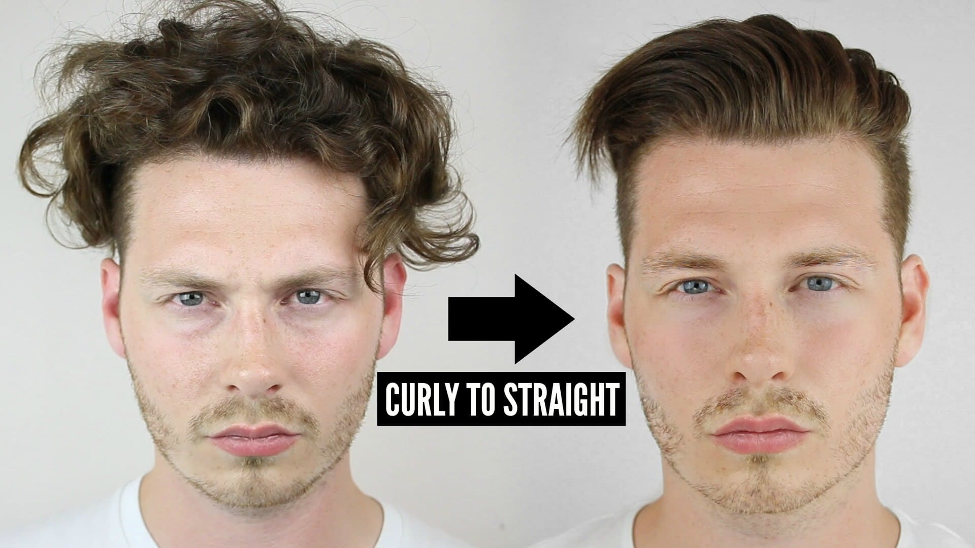 how to straighten hair men