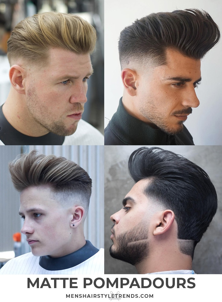Matte Pompadour Haircuts + Hairstyles For Men