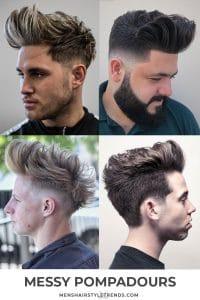 Modern Pompadour Haircuts