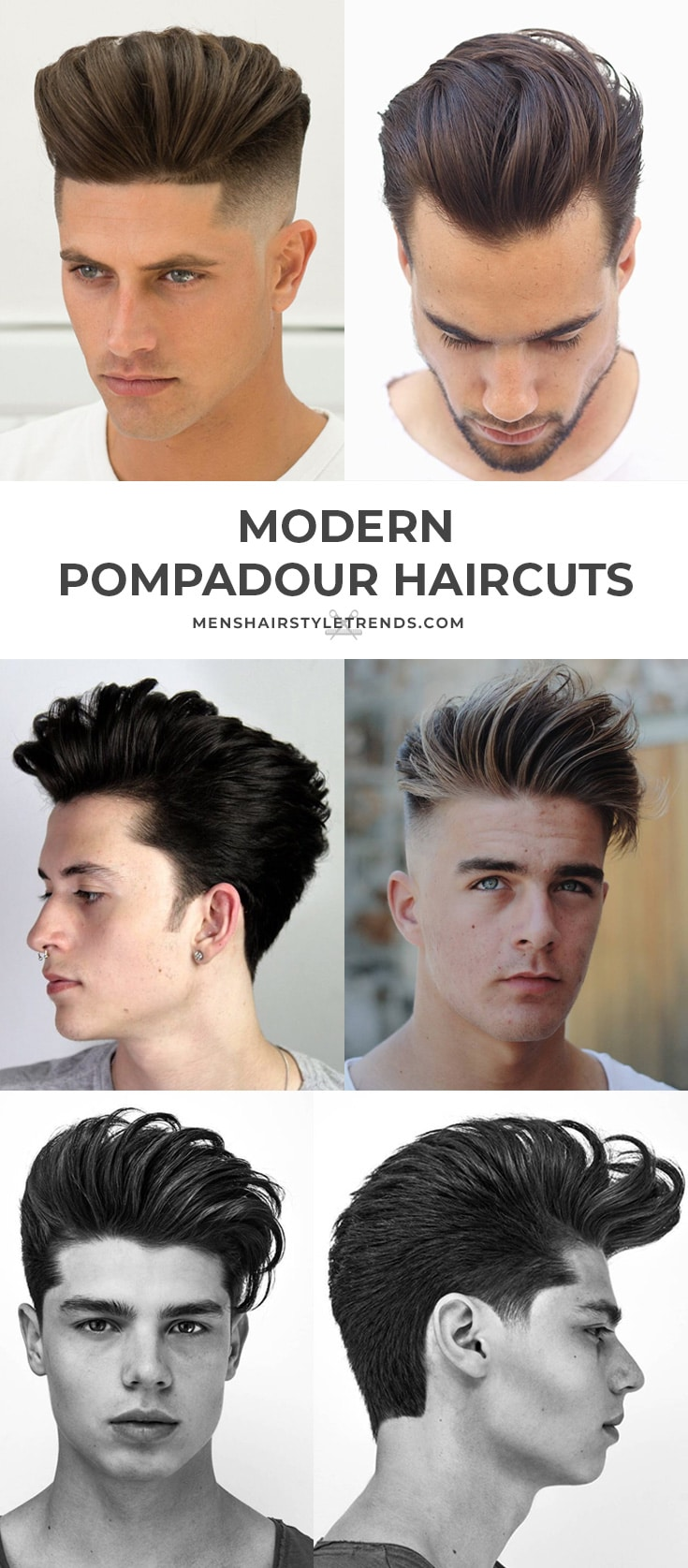 Modern Pompadour Haircuts + Hairstyles For Men