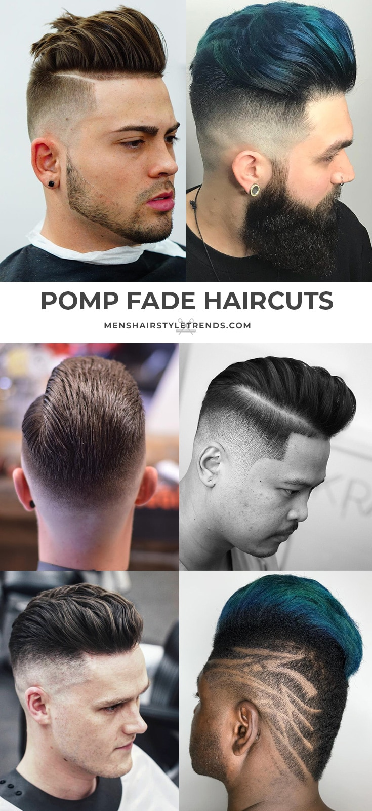 Pomp fade pompadour haircuts and hairstyles