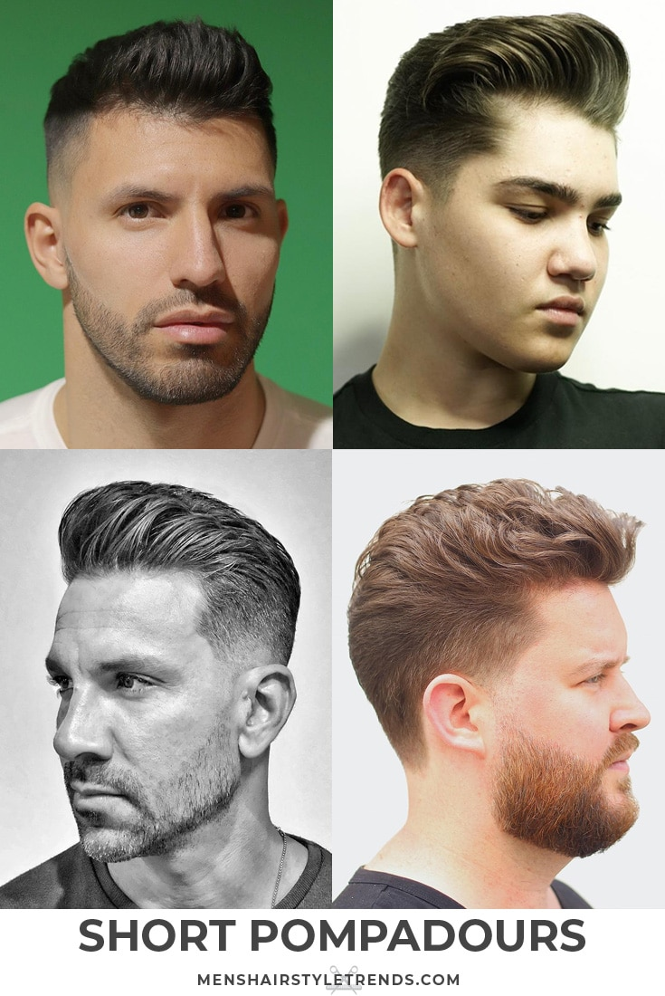 Short hair pompadour haircuts and hairstyles